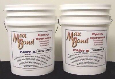 Epoxy Resin Glue Non Sagging Glue Transom Decking Boat Building Repair 10gal