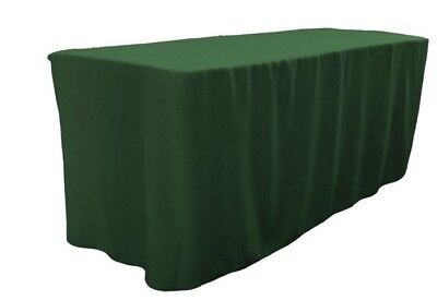 4 Ft. Fitted Polyester Table Cover Trade Show Booth Dj Tablecloth Hunter Green