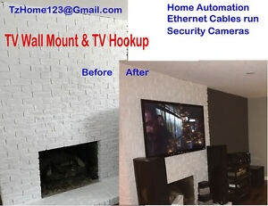 TV Wall Mount - TV Hookup - Home Entertainment System