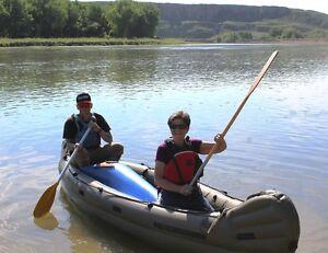 Unique vintage Metzler Inflatable Canoe