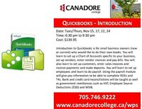 Quickbooks, Introduction, Canadore College. Parry Sound