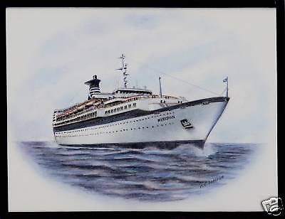 Original Art Work     Ss Meridian   Celebrity Cruises    Cruise Ship