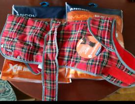 Ancol Tartan dog coat *brand new*