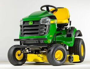 Tracteur à gazon John Deere 0$ comptant 0% intéret sur 12 mois
