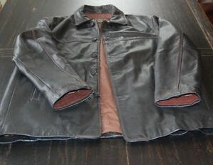 Columbia Mens Brown Thick Heavy Leather Jacket size L