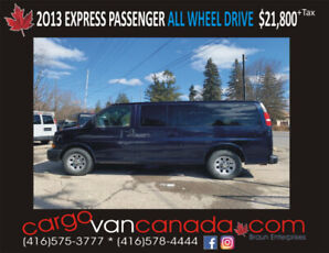2013 CHEV EXPRESS * ALL WHEEL DRIVE * fr. $21,8OO! MANY IN STOCK