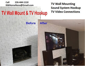 TV Wall Mount - TV Hookup - Home Entertainment System Cambridge Kitchener Area image 1