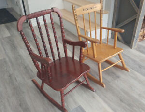 Children's Rocking Chairs, solid wood, excellent condition