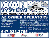 AZ-OwnerOperator for MIDWEST and  WESTCOAST - 13000M@1.60/mile