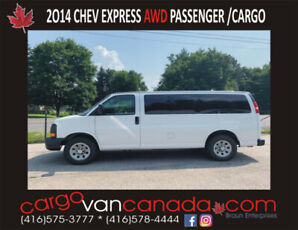 2014 CHEV EXPRESS  FORD * ALL WHEEL DRIVE *  MANY IN STOCK
