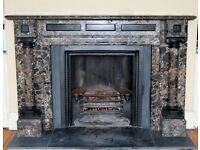 Large Antique Marble fireplace