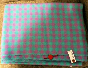 "AQUA & PINK Approx. 4 yards - 56"" Wide Woven Fabric"