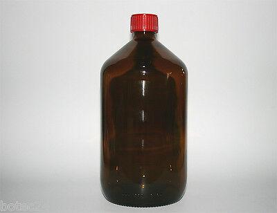 1 Liter Euromedizinflasche Braunglasflasche Apothekerflasche Laborflasche 1 St.
