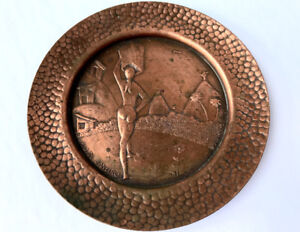 Vintage solid cooper plate from Rio de Janeiro - Brazil