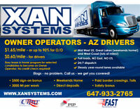 AZ Owner-Operators $1.65/M. AZ Drivers -$.60/M. Full Load.