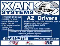 AZ Driver, MidWest, WestCoast, Full Load.