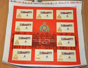 Stamps Canada RCMP 125th Anniversary 1998 Uncut Press Sheet