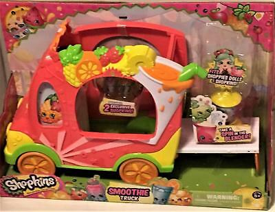 Shopkins 2015 Smoothie Truck With 2 Exclusive Shopkins Plus Blender New