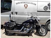 FANTASTIC 2008 KAWASAKI VN1600 B7F MEANSTREAK, FSH, 16577 MILES, SCREEN, BAGS
