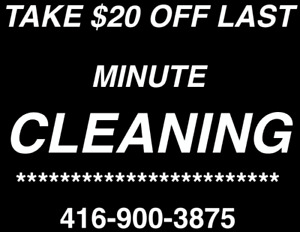 HOUSE CLEANING SERVICE!BRAMPTON-CALEDON- BOLTON 416-900-3875