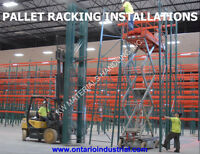 ONTARIO INDUSTRAL INSTALLATIONS. WE INSTALL RACKING & SHELVING