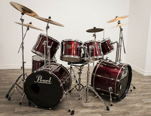 Drum Pearl Export rouge upgradé.