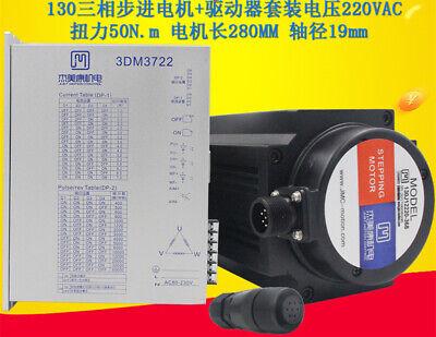 50nm Nema52 3 Phase Stepper Motor Driver Kit Shaft 19mm Ac220v For Cnc Machine