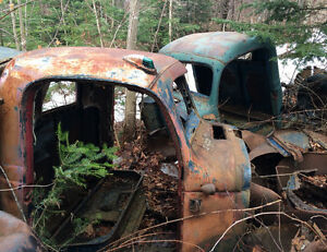 Various Old truck cabs and parts -2