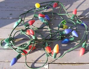 Vintage C9 Christmas Light String - 25 lights, 27 ft Multicolor