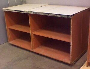 Tongue and Groove Work Table Shelving Unit