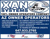 AZ Owner-Operators to join 100% O/O company 1.60$/MILE