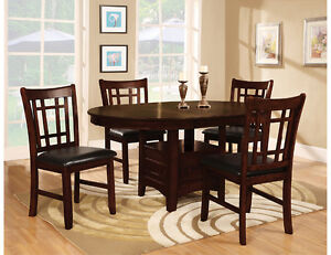 The Brick Dining Table Set For 4