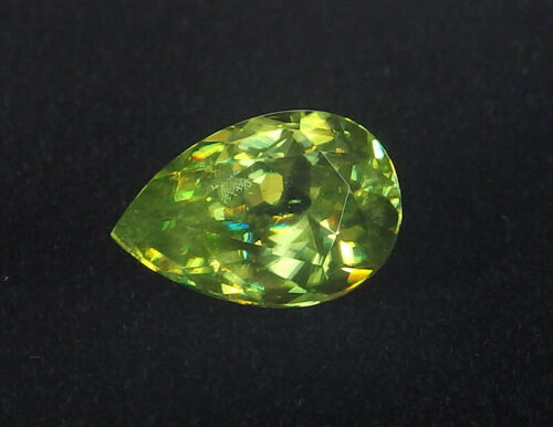 Precious Diamond Green Untreated Natural Sphene Titanite Pear 1.52 ct