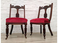 Pair Of Victorian Side Chairs (DELIVERY AVAILABLE)