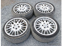 "BMW E46 E90 E91 Genuine Staggered MV1 18"" Alloy Wheels 330i 330d 325i 320d 318i"