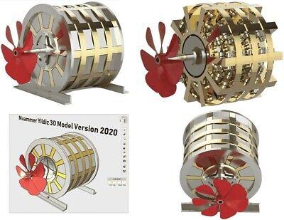 Muammer Yildiz Magnet Motor Free Energy Generator 3d Model Stl Step Dwg 2020