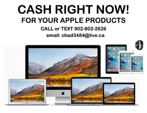 CASH RIGHT NOW for your Macbook Air, Pro, iMac, iPad, Watch