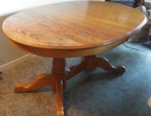 3 Leaf Solid Oak Table best offer