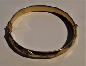 vintage 9ct gold metal cored bangle