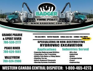 HYDROVAC & COMBO VAC ASSISTANTS REQUIRED IMMEDIATELY