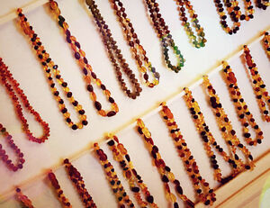 Baltic Amber Teething Necklaces and Anklets