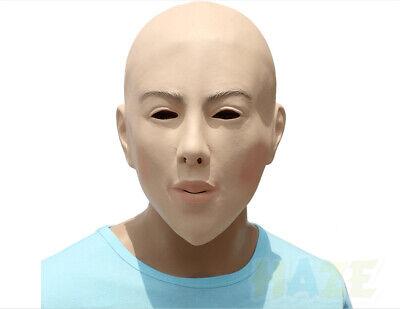 Realistische weibliche kahle Gesichtsmaske Latex Cosplay Maske Halloween Prop
