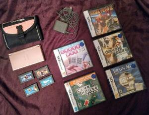 Pink Nintendo DS Lite + Games
