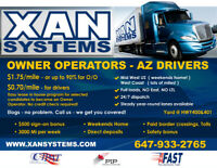 OWNER OPERATOR/DRIVER 1.65/MILES, UP TO 90%