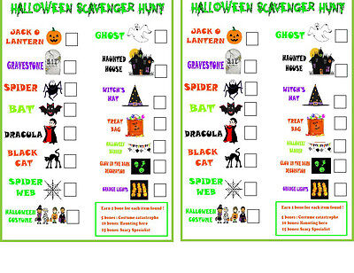 Halloween Scavenger Hunt, Fun Halloween Party,  - Fun Halloween Scavenger Hunts
