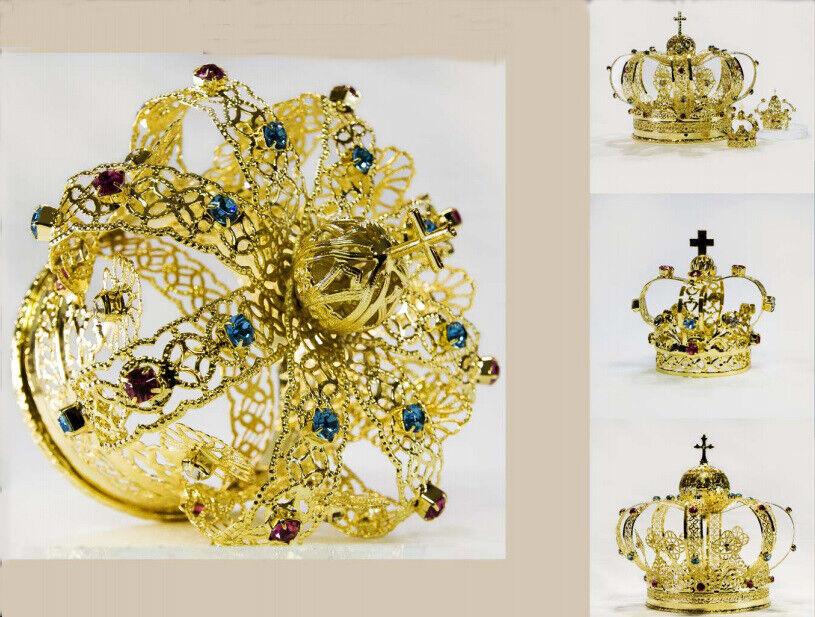 A filigrana IMPERIAL coroa ouro COM STRASS Coloridas