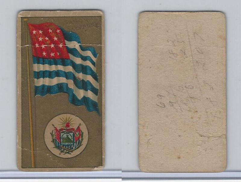 T416 American Tobacco Co., National Flags & Arms, 1910, San Salvador