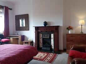 large spacious bright double room glasgow west side