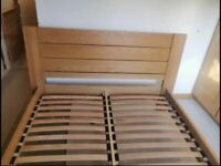 Solid oak double size bed frame Sonoma model by M&S great condition