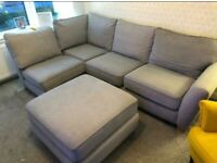 SCS Grey Corner Couch & Footstool